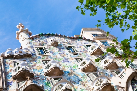 remodelled: BARCELONA - APRIL,26: Casa Batllo on April 26, 2012 in Barcelona. Building was restored by Antoni Gaudi and Josep Maria Jujol, built in the year 1877 and remodelled in the years 1904�1906