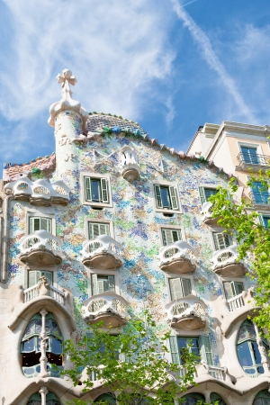 BARCELONA - APRIL,26: Casa Batllo on April 26, 2012 in Barcelona. Building was restored by Antoni Gaudi and Josep Maria Jujol, built in the year 1877 and remodelled in the years 1904-1906
