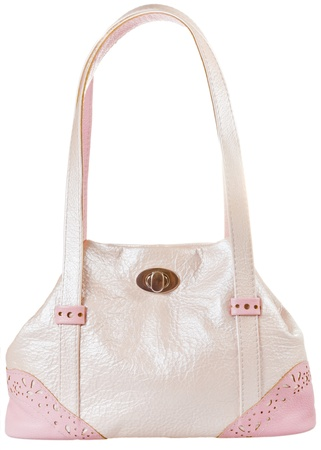 pochette: pink leather woman