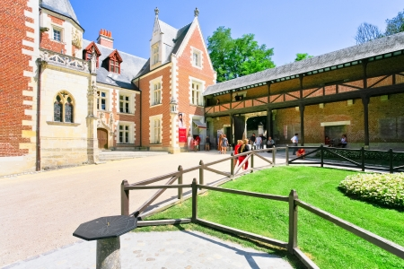 AMBOISE, FRANCE - JULY 8: Clos Luce mansion is a Leonardo da Vinci's museum in Amboise, France on July 8, 2010. Leonardo lived here for the last three years of his life, and died there on 2 May 1519 Stock Photo - 14140868