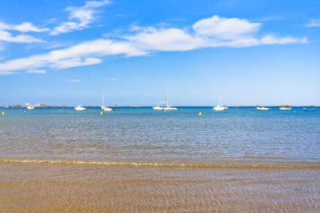 manche: boats in La Manche near Paimpol town, Brittany, France