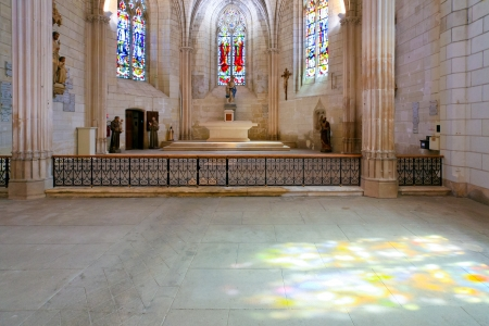 interior of catholical church in Amboise, France