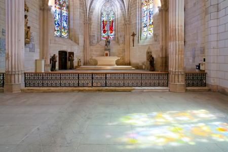 catholical: interior of catholical church in Amboise, France