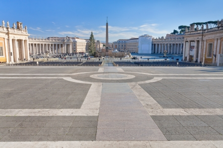 St.Peter Square with Egyptian obelisk in Rome, Italy