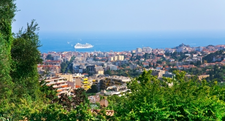 view of Cannes city and Azure Coast, France photo