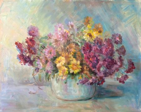 ceramic bowl with flowers photo