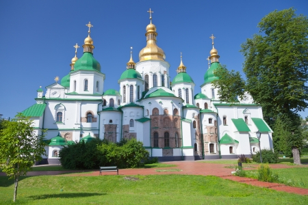 Saint Sophia Cathedral in Kiev, Ukraine in summer day photo