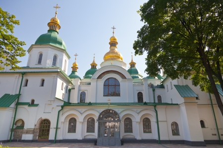 front view on Saint Sophia Cathedral in Kiev, Ukraine in summer day Stock Photo - 14553428