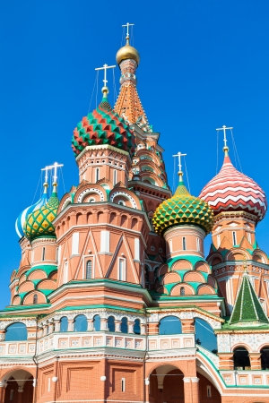 domes of Saint Basils Cathedral in Moscow, photo