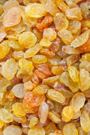 sultana: many sultana raisins close up background