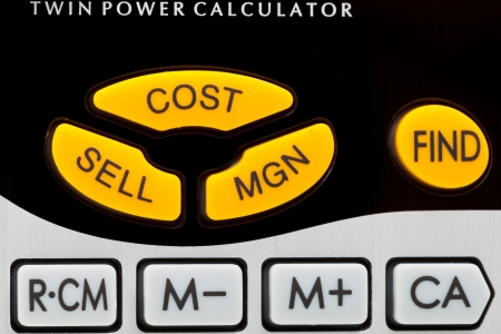 profit,cost, sell keys of financial calculator close up Stock Photo - 16032205