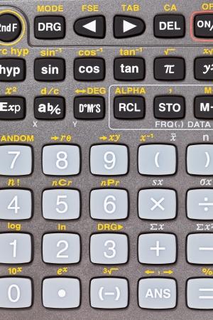 teclado num�rico: botones de la calculadora cient�fica con funciones matem�ticas de cerca