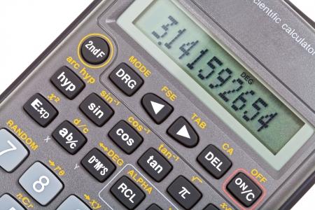 teclado num�rico: visualizaci�n de la calculadora cient�fica con funciones matem�ticas de cerca