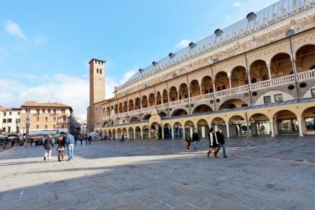PADUA, ITALY - NOVEMBER 1: Palazzo della Ragione on Piazza della Frutta. The Palazzo was begun in 1172 and finished in 1219 in Padova, Italy. On November 1, 2012 Stock Photo - 16746085