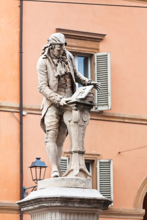 physiologist: statue of Luigi Galvani - italian Italian physician, physicist and philosopher in Bologna, Italy