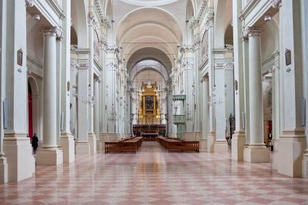 catholicity: interior of Basilica of San Domenico - one of the major churches, Bologna, Italy Editorial