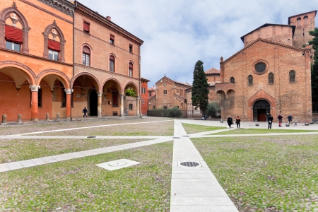 Santo Stefano square holds a complex of ancient temples Sette Chiese Seven Churches) in Bologna, Italy