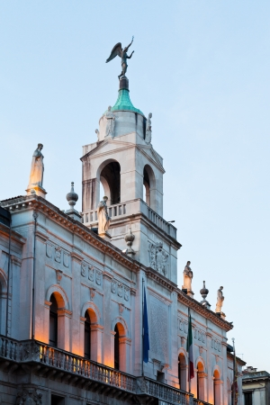 municipality: Palazzo Moroni - seat of the Municipality of Padua, Italy at evening Editorial