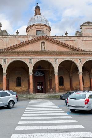catholicity: church La Chiesa della Pace o Madonna del Baraccano in Bologna, Italy Stock Photo