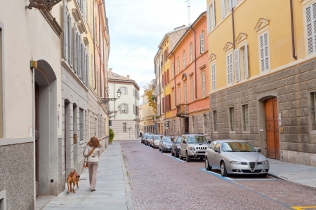 picturesque street in Parma, Italy in autumn day, Stock Photo - 16799673