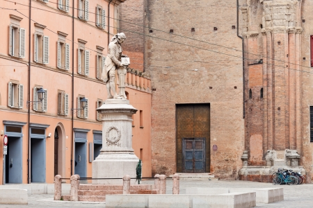 physiologist: view of piazza Galvani in Bologna, italy