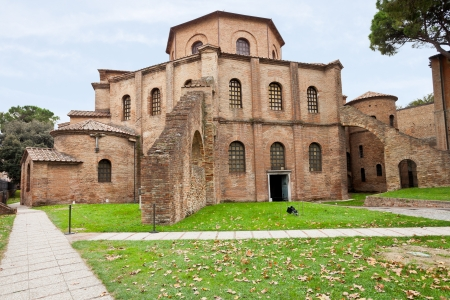 Basilica of San Vitale - antique church in Ravenna, Italy photo