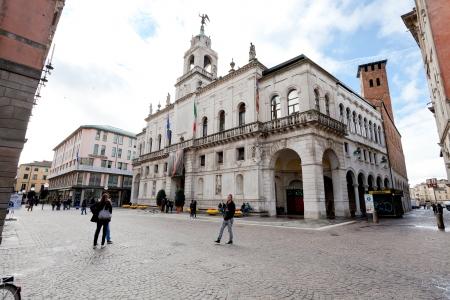 PADUA, ITALY - NOVEMBER 1: Palazzo Moroni - seat of the Municipality of Padua. The City Hall was designed by Romeo Moretti and Giambattista Scarpari in 1919 in Padua, Italy on November 1, 2012 Stock Photo - 16870008