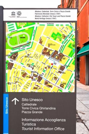 MODENA, ITALY - NOVEMBER 3: Modena city map. In 2007, there were 179937 people residing in Modena, Italy on November 3, 2012 Stock Photo - 16869988
