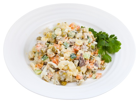 moscovian: Russian Olivier salad traditional salad dish from Russia