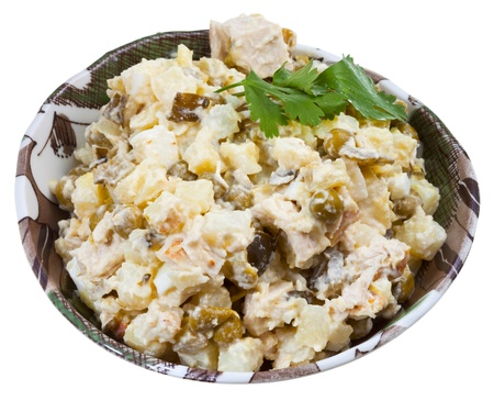 moscovian: Russian stolichny salad traditional salad dish from Russia