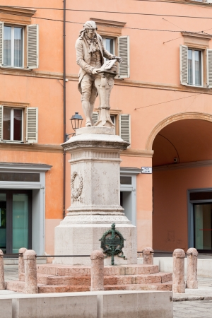 physiologist: monument of Luigi Galvani - italian Italian physician, physicist and philosopher in Bologna, Italy