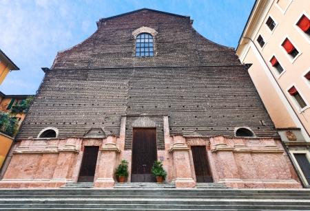 ex: door and facade of Aula Magna - Ex Chiesa di Santa Lucia, Bologna, Italy