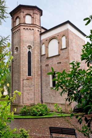 catholicity: tower of Cappella degli Scrovegni in Padova, Italy