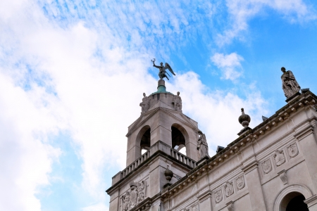 statue on tower of city hall Palazzo moroni in Padua, Italy Stock Photo - 17435838