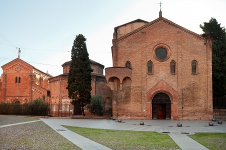 catholicity: front view of religious complex Santo Stefano Abbey in Bologna, Italy