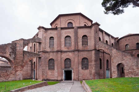 view of Basilica of San Vitale - ancient church in Ravenna, Italy photo