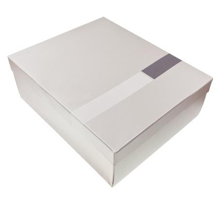 one carton box isolated on white background photo