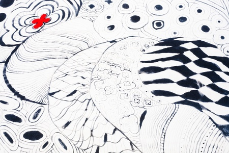 hand made: abstract drawing on silk hand made batik