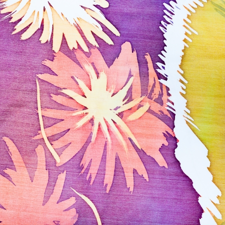 abstract pattern with flowers on silk batik Stock Photo - 18062845