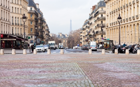 rue: PARIS, FRANCE - MARCH 8: place du Pantheon and Rue Soufflot.The street is named after Jacques-Germain Soufflot (1713-1780), architect of the Pantheon in Paris, France on March 8, 2013 Editorial
