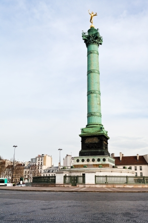 July Column in center of Place de la Bastille in Paris