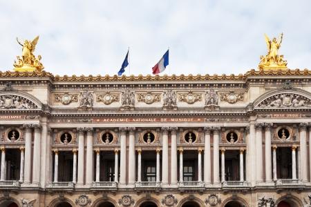 palais garnier: Paris, France - March 5, 2013: The facade of the Palais Garnier - opera house in Paris