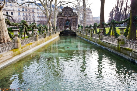view of Fontaine de Medicis, Jardin du Luxembourg, Paris