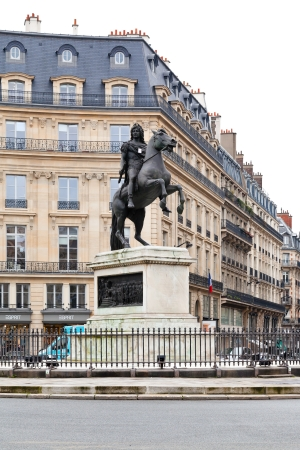 concluded: PARIS, FRANCE - MARCH 7: Place des Victoires. At center of the square is equestrian monument of Louis XIV, celebrating the Treaties of Nijmegen concluded in 1678-79 in Paris, France on March 7, 2013 Editorial