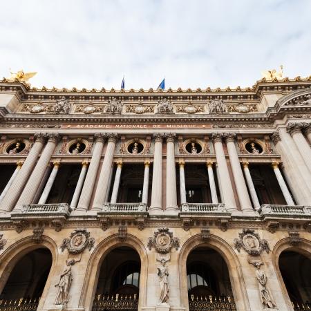 palais garnier: The facade of the Palais Garnier - opera house in Paris Editorial