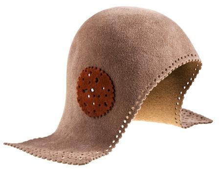 felt women helmet hat isolated on white background Stock Photo - 19032793