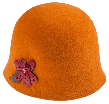 felt ladies cloche hat isolated on white background Stock Photo - 19032792
