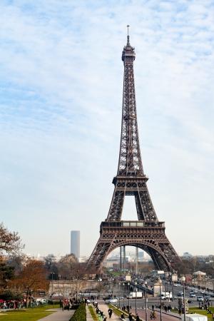 d'eiffel: Eiffel Tower in Paris in early spring day Editorial