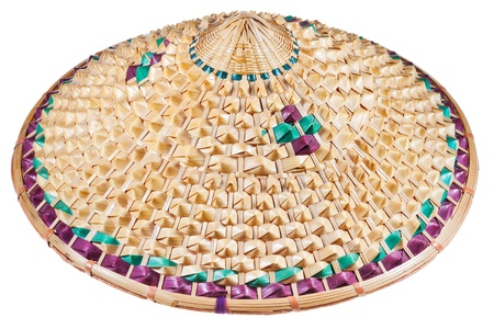 coolie hat: Vietnamese style conical hat isolated on white background Stock Photo