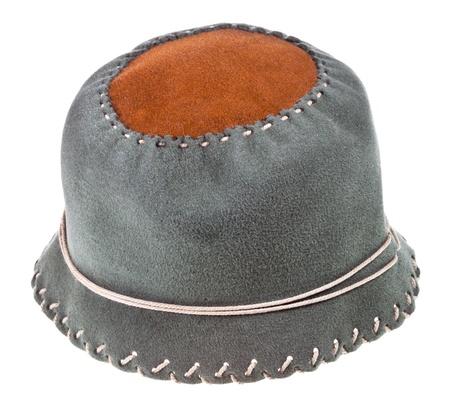 felt cloche hat isolated on white background Stock Photo - 19419089